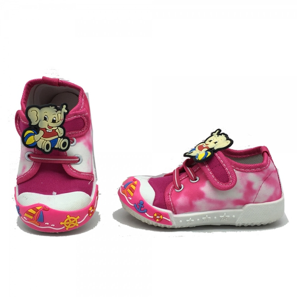 614055-2 Baby canvas shoes-18-22-pink