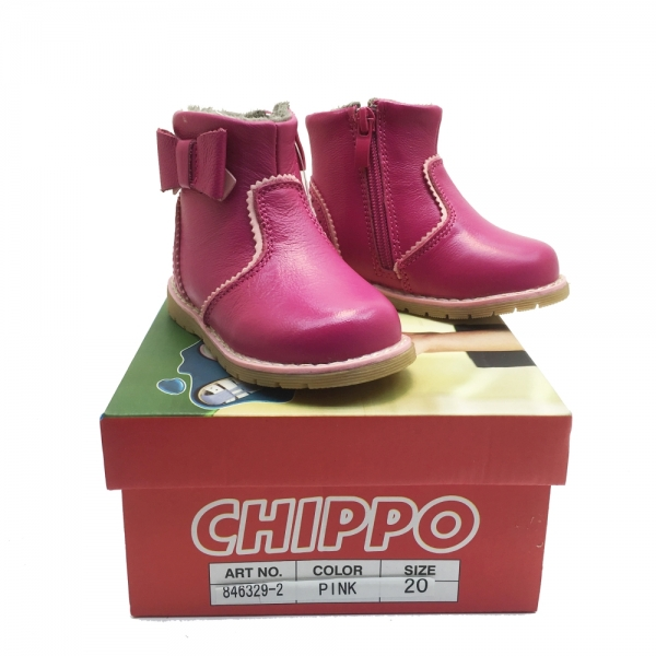 846329-2 Leather Boots 21-26 pink