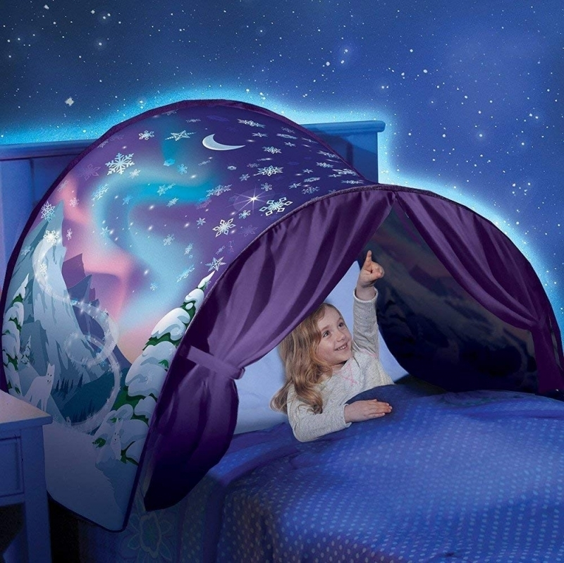 204241-1 Dream Tent with reading lamp, Winter wonderland