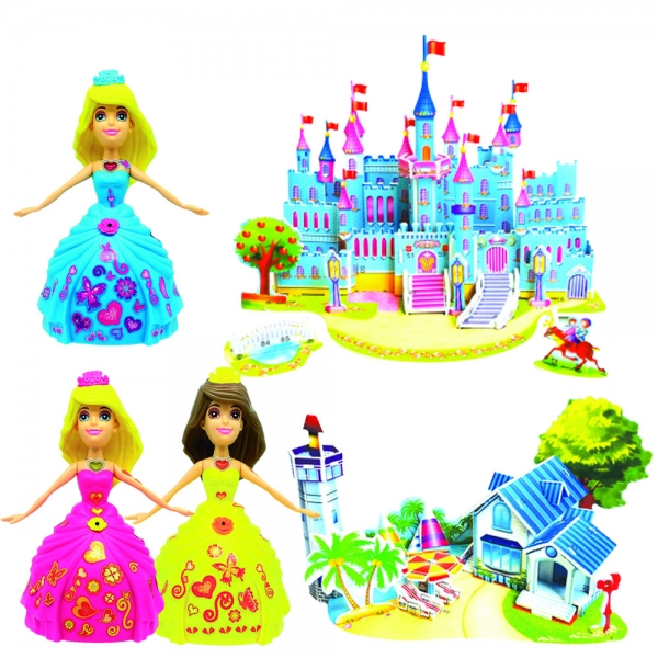 805489-3 Dancing Katie and magical 3D castle and Beach house