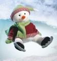 33093 Russ Berrie Снежен човек със скейт - 38 cm