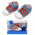 30110 Baby shoes Jeans #17-20-l.blue