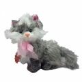 48182-3006 Плюшена Котка Разказвач-30см -сива
