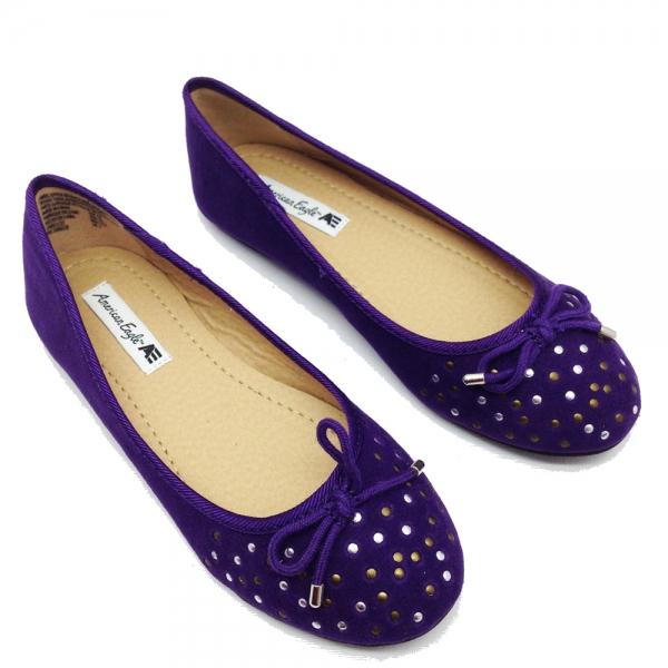 41193-2 ОбувкиБалерина-AmEagle-violet-№31-37