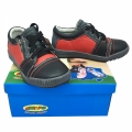 612710-2 Children's leather shoes 25-30-black/red