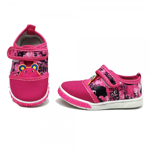 612027-2 Bebe canvas shoes-16-20-pink