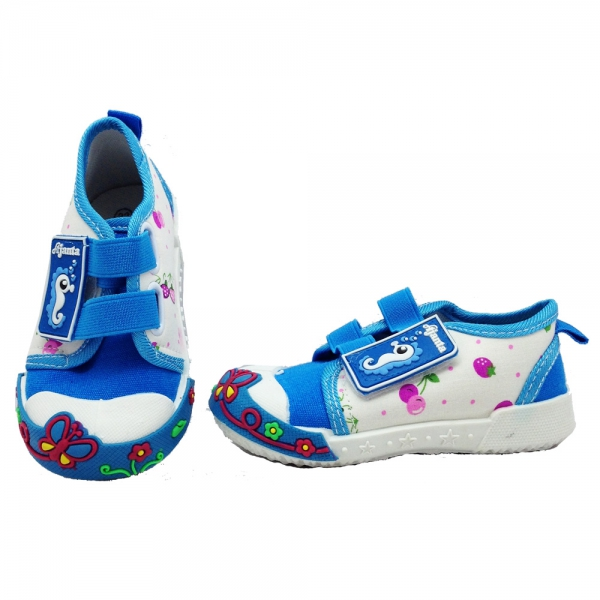 614002-1 Baby canvas shoes 18-22-blue