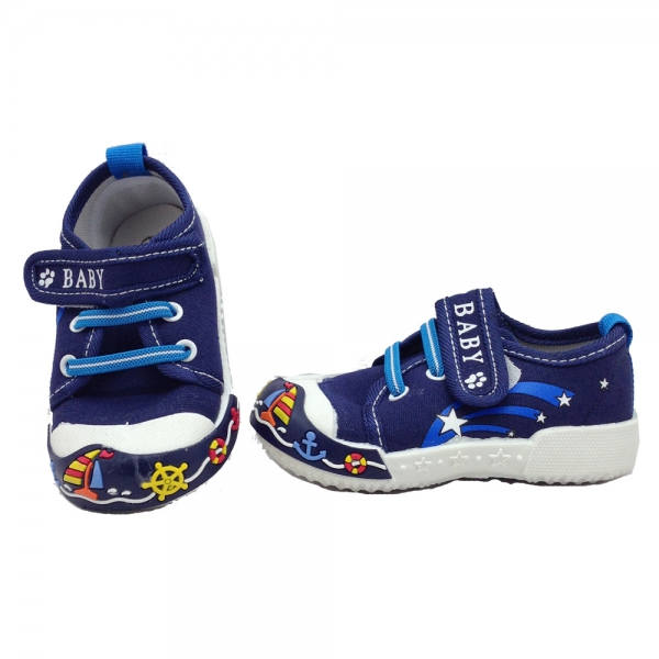 614041-1 Baby canvas shoes-18-22-blue