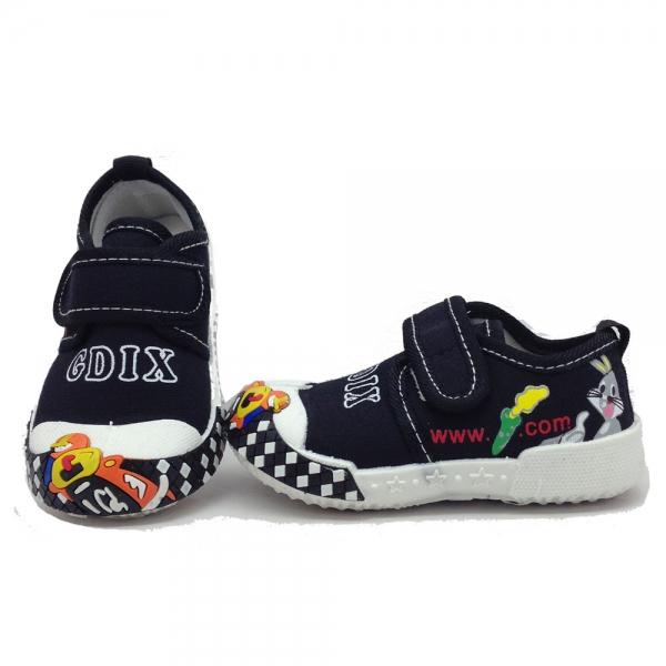 614058-1 Baby canvas shoes-18-22-black