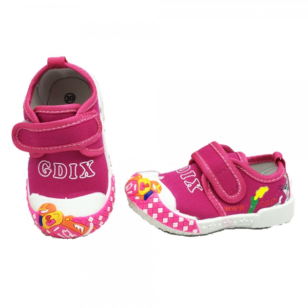 614058-2 Baby canvas shoes-18-22-Pink