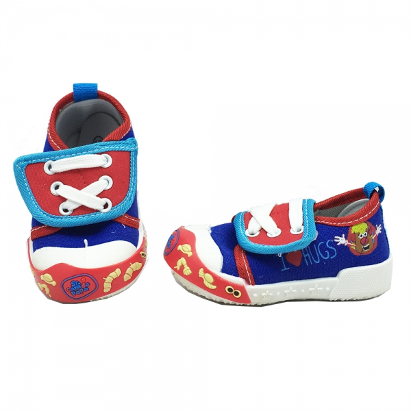 614064-1 Baby canvas shoes-18-22-blue