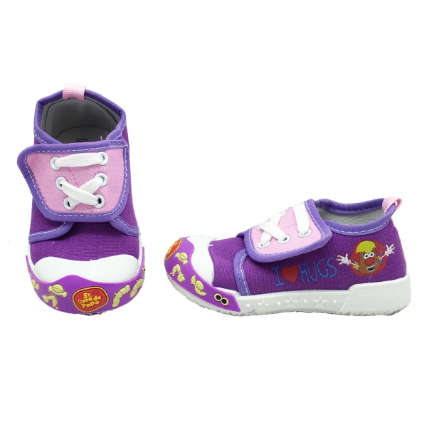 614064-2 Baby canvas shoes-18-22-violet