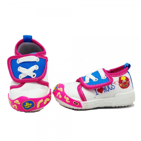 614064-3 Baby canvas shoes-18-22-white