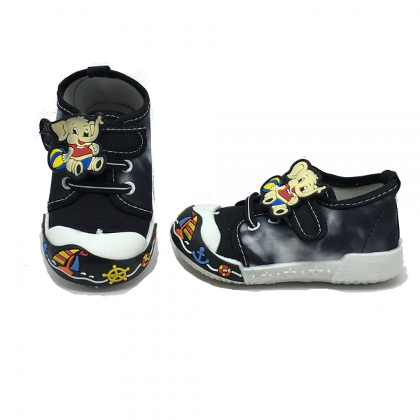 614055-1 Baby canvas shoes-18-22-black