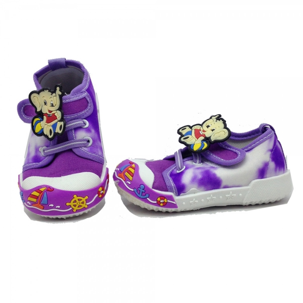 614055-3 Baby canvas shoes-18-22-violet