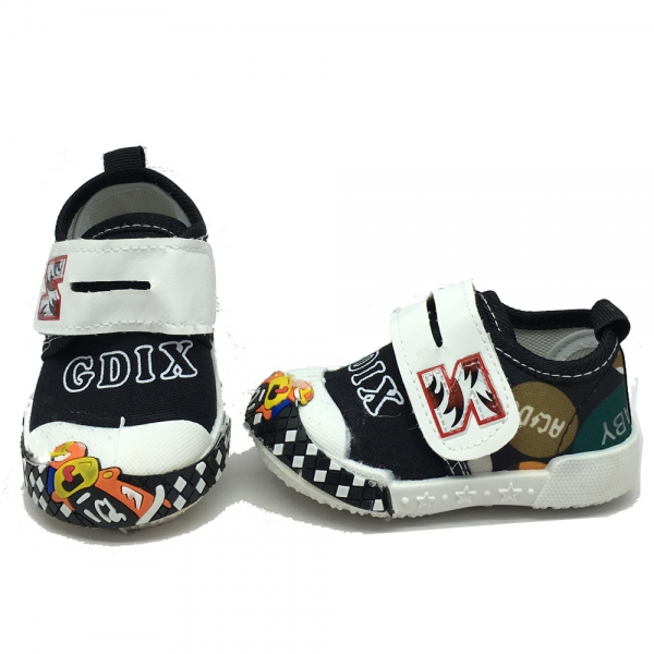 614057-1 Baby canvas shoes-18-22-black
