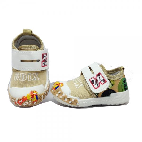 614057-2 Baby canvas shoes-18-22-knaki