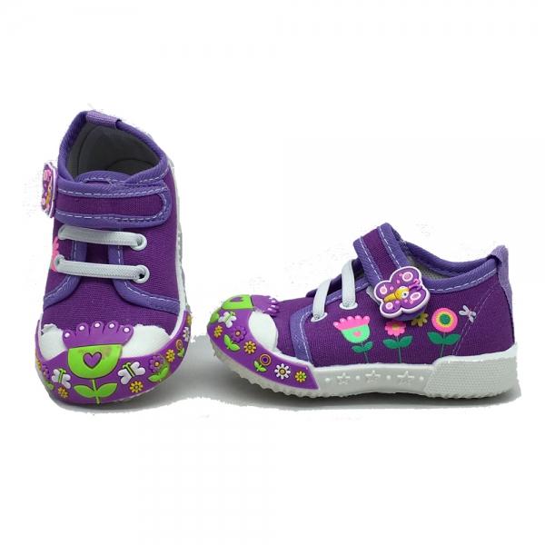 614069-2 Baby canvas shoes-18-22-purple