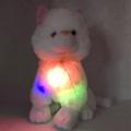 4142-38660 Светещa Бяла котка и пее 1 БГ песен, 38cm.