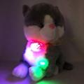 4142-38660 Светещa Сива котка и пее 1 БГ песен, 38cm