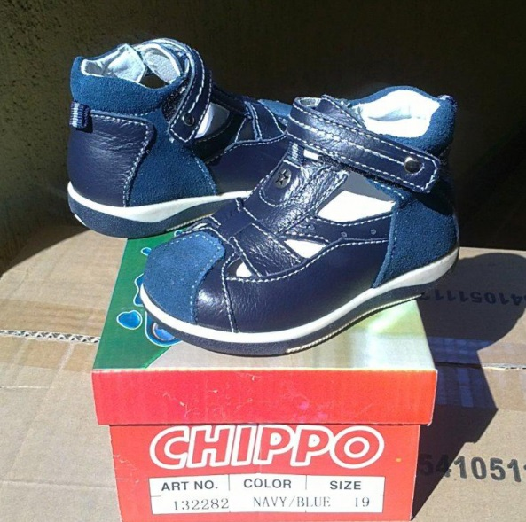 132282 Chippo Leather shoe #19-24-Navy
