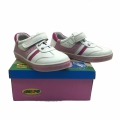 Children leather shoes 712861-2-25-30-white/pink
