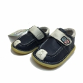 Baby leather shoes 057-038-19-23-blue