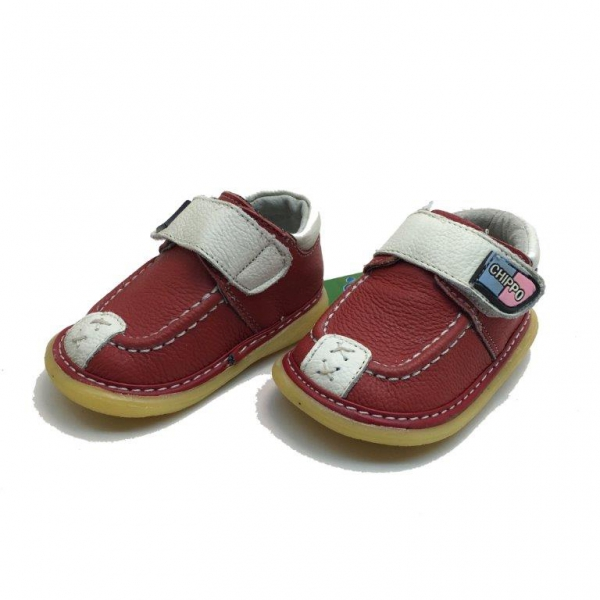 Baby leather shoes 057-038-19-23-red