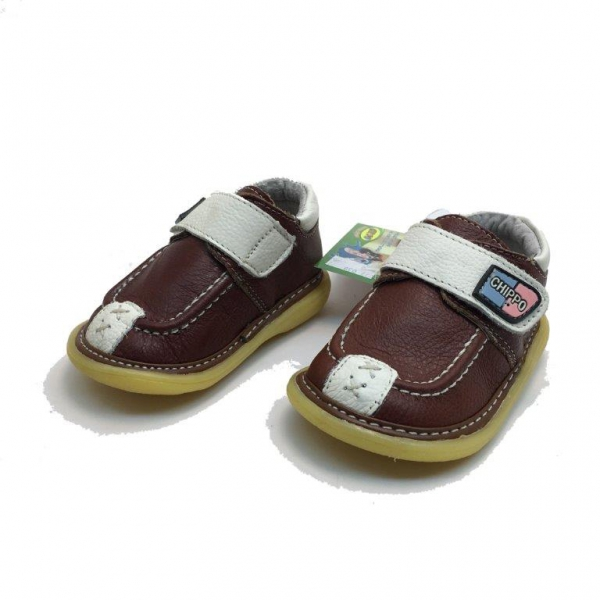 Baby leather shoes 057-038-19-23-brown