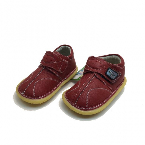 Baby leather shoes 123-852-19-23-red
