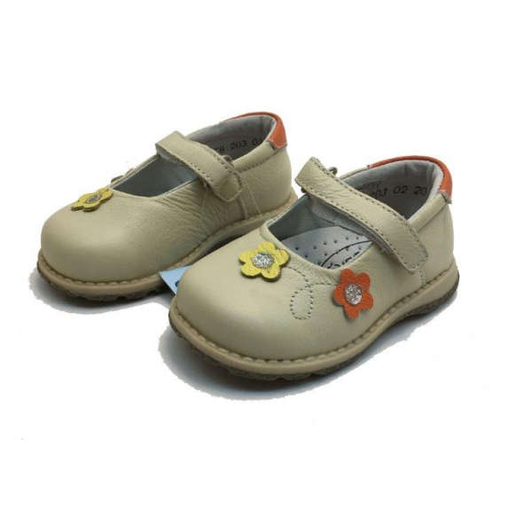 Baby leather shoes 08-203-19-24-beige