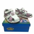 Children leather sandal 723821-2-20-24 White/Pink