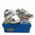 Кожени сандали-723821-2 №20-24 бял/роз