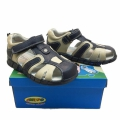 Кожени сандали-723776-1 №25-30 син/беж