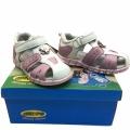 Кожени сандали-723776-2 №25-30 бял/роз
