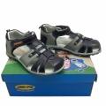 Кожени сандали-723692-1 №31-36 син/сив