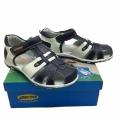 Кожени сандали-723692-2 №31-36 син/бял