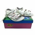 Кожени сандали-722112-1 №31-36 бял