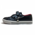 71271-1 Eco leather sneaker with zip 31-37-black