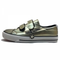 71271-2 Eco leather sneaker with zip 31-37-gold