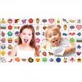 912866 Хартия за ядене с Татуировки за език цветни-12 - Image 1