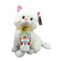 4142-3806-1 Разказвач котка 38cm- Бяла
