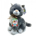 4142-3806-2 Разказвач котка 38cm- сива