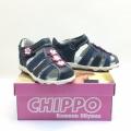 823869-2 Children leather sandal 20-24 blue/pink