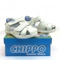 823887-2 Children leather sandal 20-24 white/blue