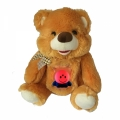18025-1 Plush Bear with glowing baby