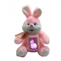 18025-2 Plush Rabbit with glowing baby