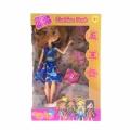 276078-4 Boxy Girls Кукли + 4 пакета с изнедади  Синя рокля