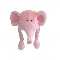240815-2 Шапки Животни с Подвижни Ушички-Розов Слон - Image 1