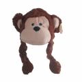 240815-4 Шапки Животни с Подвижни Ушички-Маймуна - Image 1